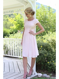 """Isabel"" Modest Dress in Light Pink *RESTOCKED*"