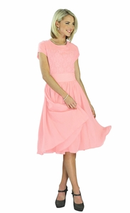 """Isabel"" Modest Dress in Baby Pink"