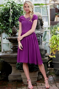Isabel Modest Dress in Purple