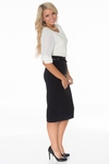 Ivy Belted Pencil Skirt in Black (Available in Regular & Tall)