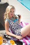"""Jane"" Modest Tankini Top in Leopard Print *Final Sale*"