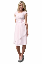 Jasmine Modest Dress in Pale Pink