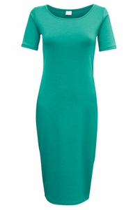 Jen Modest T-Shirt Dress in Emerald Teal