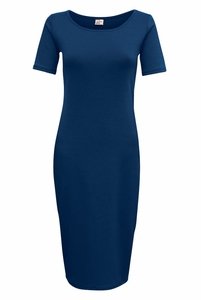 Jen Modest T-Shirt Dress in Navy Blue