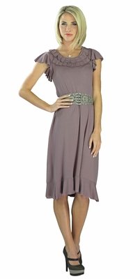 """Karissa"" Modest Dress in French Lilac"