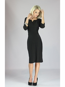 """Katherine"" Modest Dress in Black"