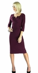 """Katherine"" Modest Dress in Plum *BACK IN STOCK*"