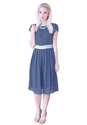 """Kelsey"" Modest Dress in Hale Navy"