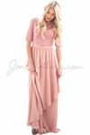 """Lauren"" Modest Maxi Dress in Mauve"