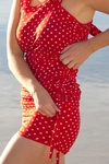 """Linda"" Modest Tankini Top in Red Polka Dot *BACK IN STOCK*"