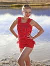 """Linda"" Modest Tankini Top in Red Polka Dot *RESTOCKED*"