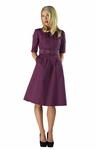 """Madeline"" Modest Dress in Plum"