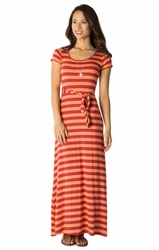 Marina Maxi Modest Dress in Deep Claret