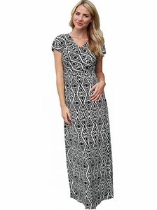 """Melinda"" Maxi Modest Dress in Aztec *Final Sale*"