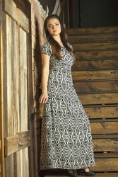 """Melinda"" Maxi Modest Dress in Aztec *BACK IN STOCK*"