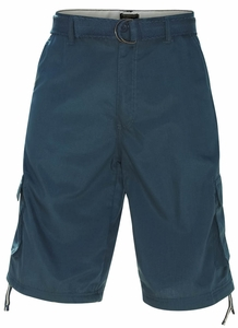 Men's Knee-length Cargo Shorts w/belt in Solid Navy