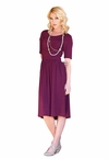 """Mia"" Modest Dress in Plum"
