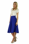 """Midi Crepe"" Modest Skirt in Cobalt Blue *BACK IN STOCK*"