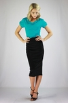 """Midi Pencil"" Modest Skirt in Black *Final Sale*"