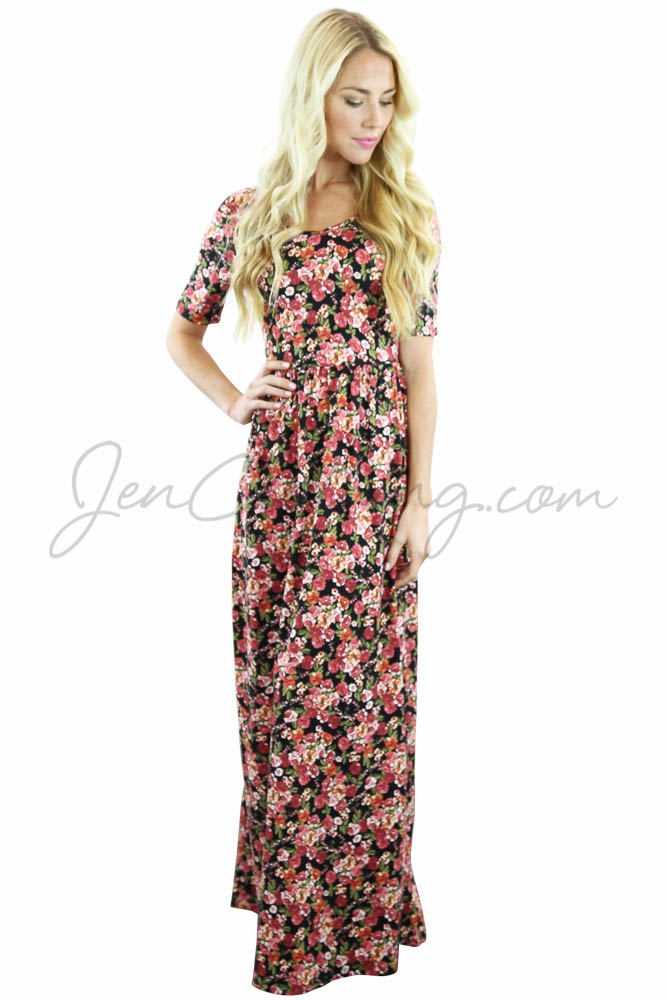 Modest Maxi Dresses with Sleeves and Modest Maxi Skirts