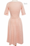 """Nicole"" Modest Lace Dress in Peachy Pink"