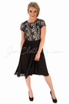 """Olivia"" Lace & Chiffon Modest Dress in Black"