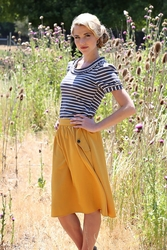 Perfect Pockets Modest Skirt in Mustard