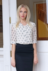 Placket Top in Tribal Print