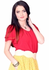 """""""Pleated Collar"""" Top in Red"""