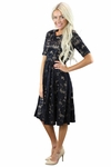 """Samantha"" Modest Lace Dress in Black"