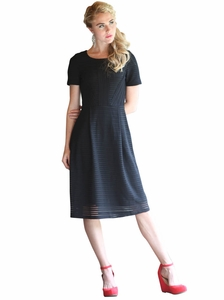Scarlett Modest Dress in Black