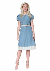 Shelly Modest Dress in Light Blue