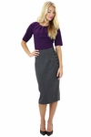 """Side Buttons Skirt"" in Charcoal Grey"