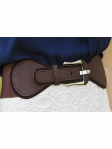 Spandex Belt in Chocolate