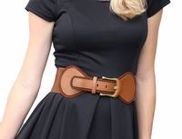 Spandex Belt in Cognac