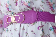 Spandex Belt in Purple