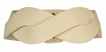 Thick Braided Belt in Cream