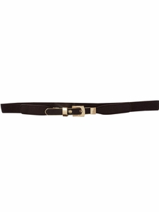 Thin Spandex Belt in Dark Chocolate Brown
