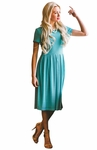 Winslow Modest Dress in Sea Green Mesh