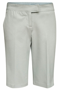 Women's Modest Bermuda Career Shorts, Blue Slate