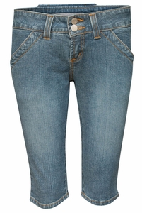 Women's Modest Bermuda Shorts, Light Denim