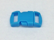 "3/8"" Plastic Side Release Buckle - Neon Blue"
