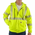 Carhartt Flame Resistant Heavyweight High-Visibility Class 3 Hooded Zip-Front Sweatshirt