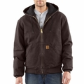 Carhartt J130 Sandstone Active Jacket - Quilted Flannel Lined