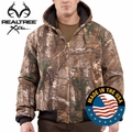 Carhartt Quilted Flannel Lined Camo Active Jac