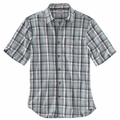 "<font color=""ff0000"">*New</font> Carhartt 102535 Essential Plaid Open Collar Short Sleeve Shirt"