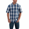 "<font color=""ff0000"">*New</font> Carhartt Essential Plaid Button Down Short Sleeve Shirt"