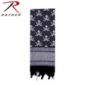 Rothco Shemagh Desert Tactical Scarf - Black w/ Skulls