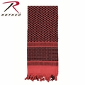Rothco Shemagh Desert Tactical Scarf - Red & Black