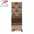 Rothco Shemagh Desert Tactical Scarf - Tan Snakes